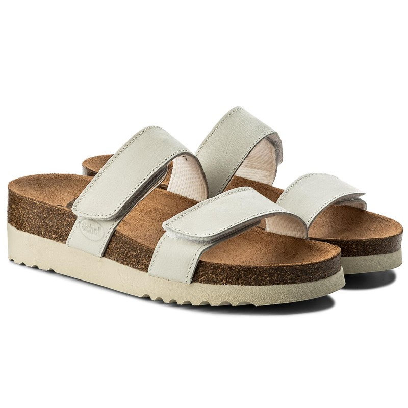 White Leather Flip Flops