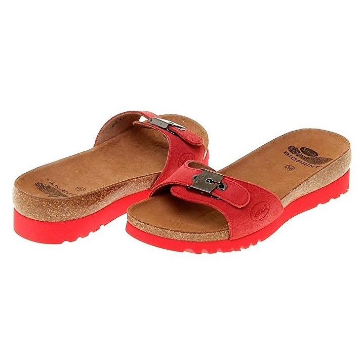 0b07552d26b SCHOLL WOMEN S CLOG WITH WEDGE HEEL RED SUEDE LEATHER