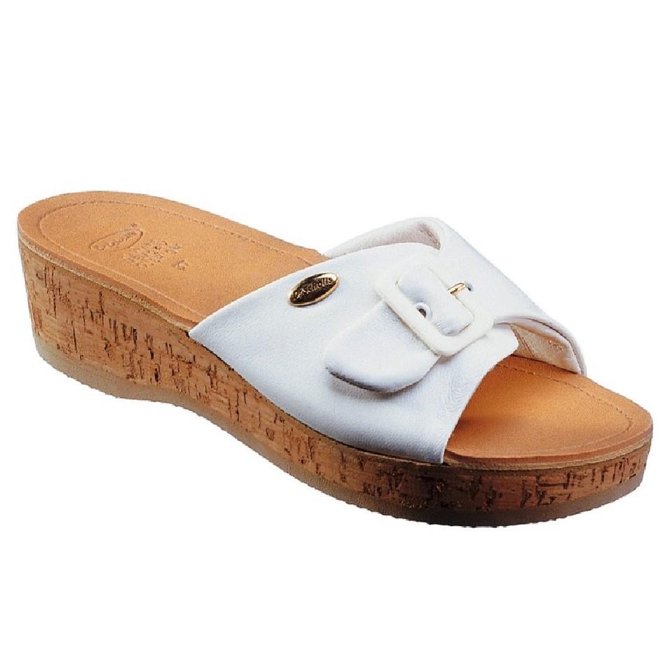 2020 scarpe eleganti assolutamente alla moda DR. SCHOLL ZOCCOLI DONNA ZEPPA IN VERO SUGHERO WAPPY BIANCO