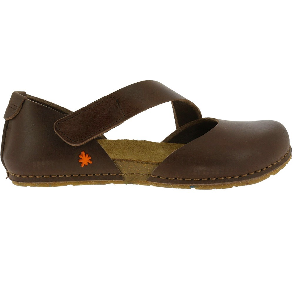 a86c75a90cc7 ART WOMEN S SANDALS CRETA CLOSED TOE REAL LEATHER BROWN