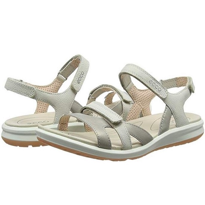 best authentic 28392 bbf98 ECCO WOMEN'S SANDALS COMFORTABLE AND LIGHT WITH STRAP CLOSURE CRUISE II  SILVER GREY