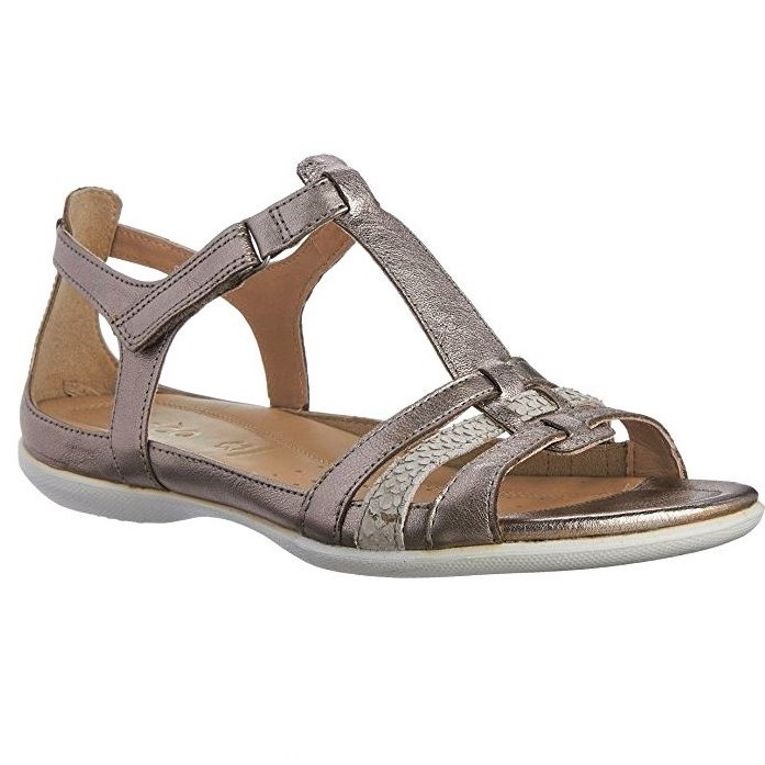 d0f85c0b269b7 ECCO WOMEN'S COMFORTABLE SANDALS WITH STRAPS FLASH WARM GREY METALLIC |  SanitariaWeb
