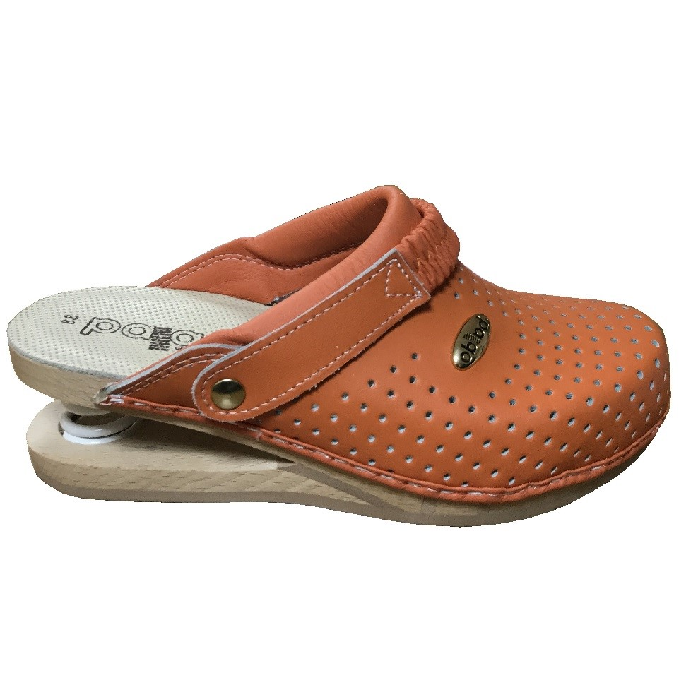 Sole Insole Flex Orange Leather Clogs Baldo Women's xWdBoerC