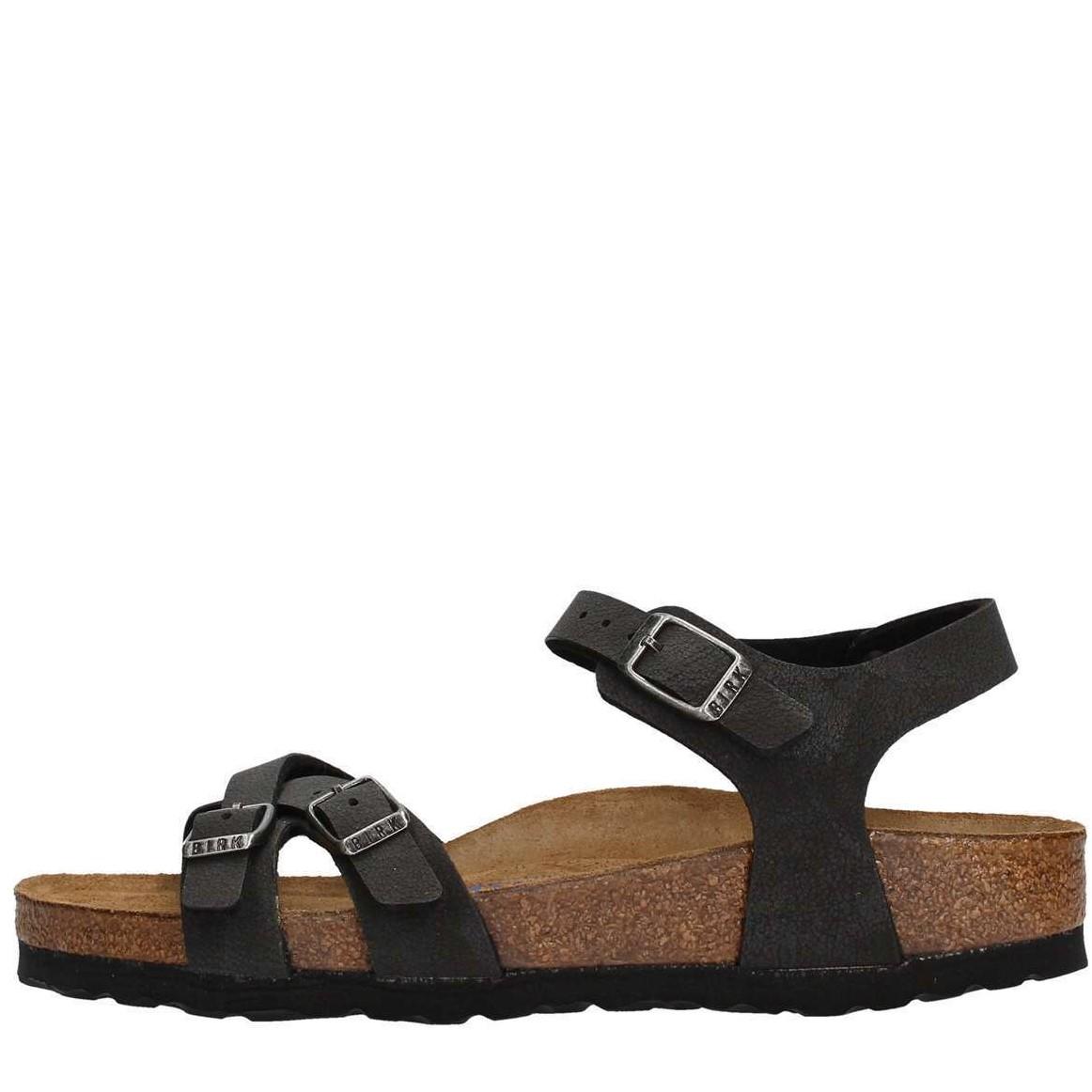 eca02de9b5167 BIRKENSTOCK KUMBA WOMEN S SANDALS SOFT FOOTBED BIRKO FLOR BRUSHED BLACK