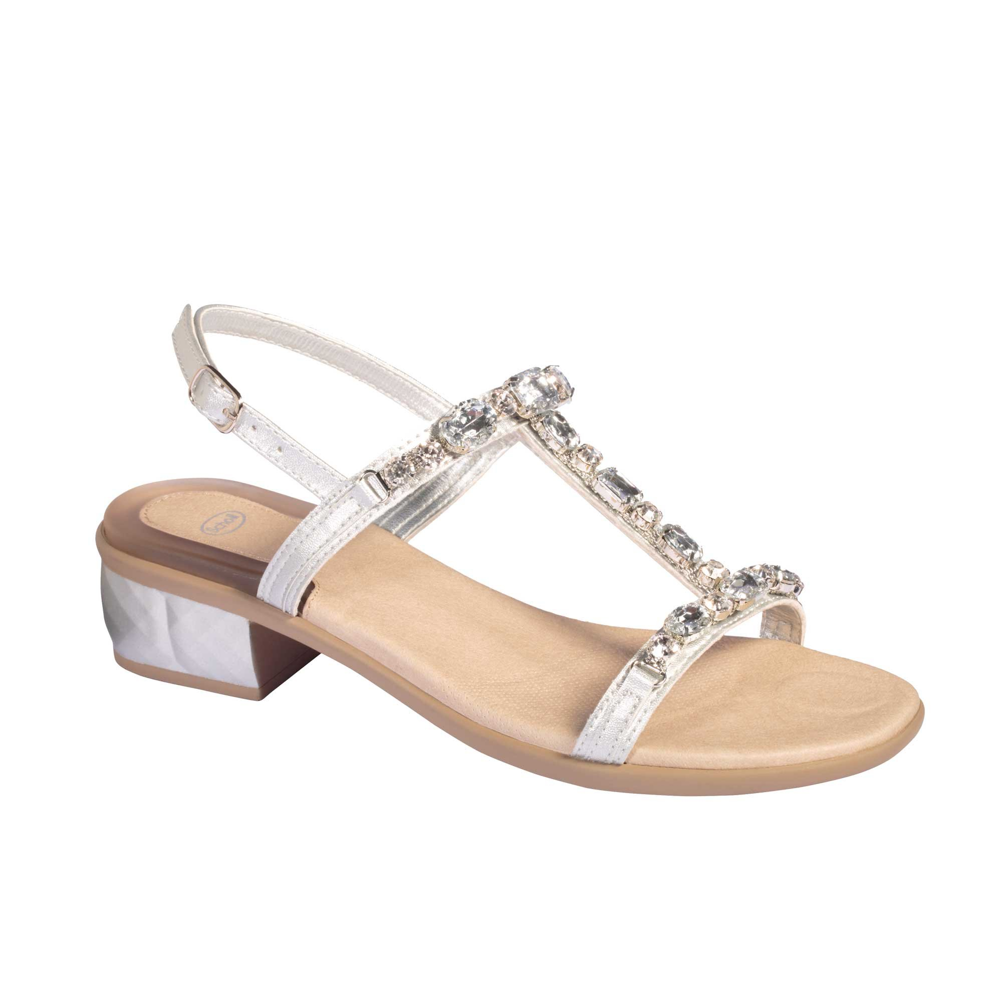 d38e42cea9f SCHOLL KLIO SYNJEW WOMEN S SANDALS WITH BEEDS SILVER
