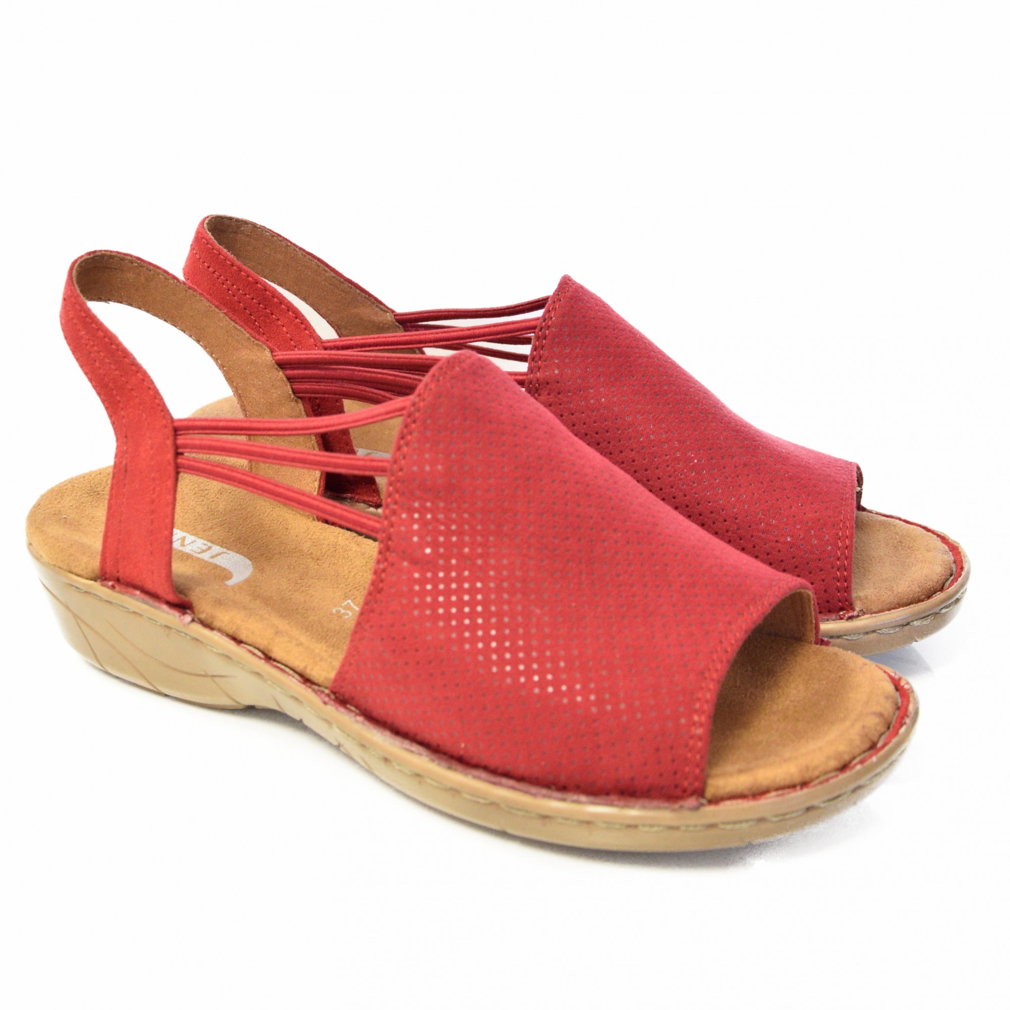 4fc309f3 JENNY BY ARA WOMEN'S SANDALS WITH ELASTIC CLOSURE RED | SanitariaWeb