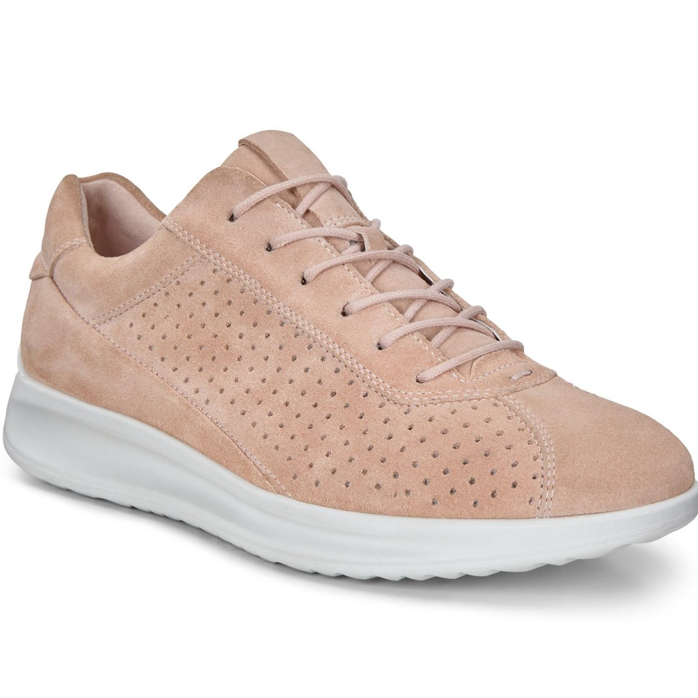 authorized site large discount lace up in ECCO AQUET WOMEN'S COMFORTABLE CASUAL SNEAKER ROSE DUST