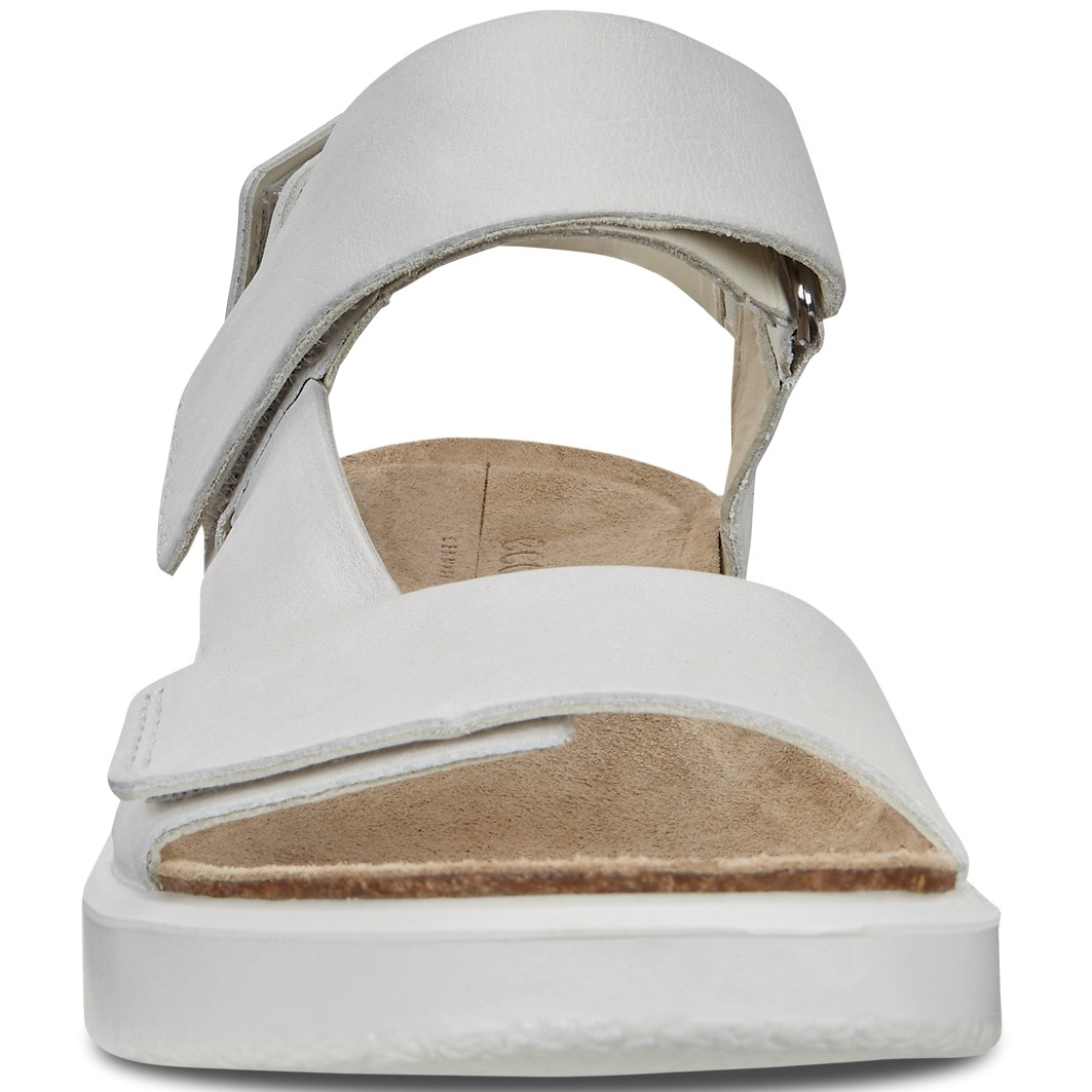 d5a09de8e0 ECCO CORKSPHERE WOMEN'S SANDALS THREE STRAPS LEATHER WHITE GREYWOLF
