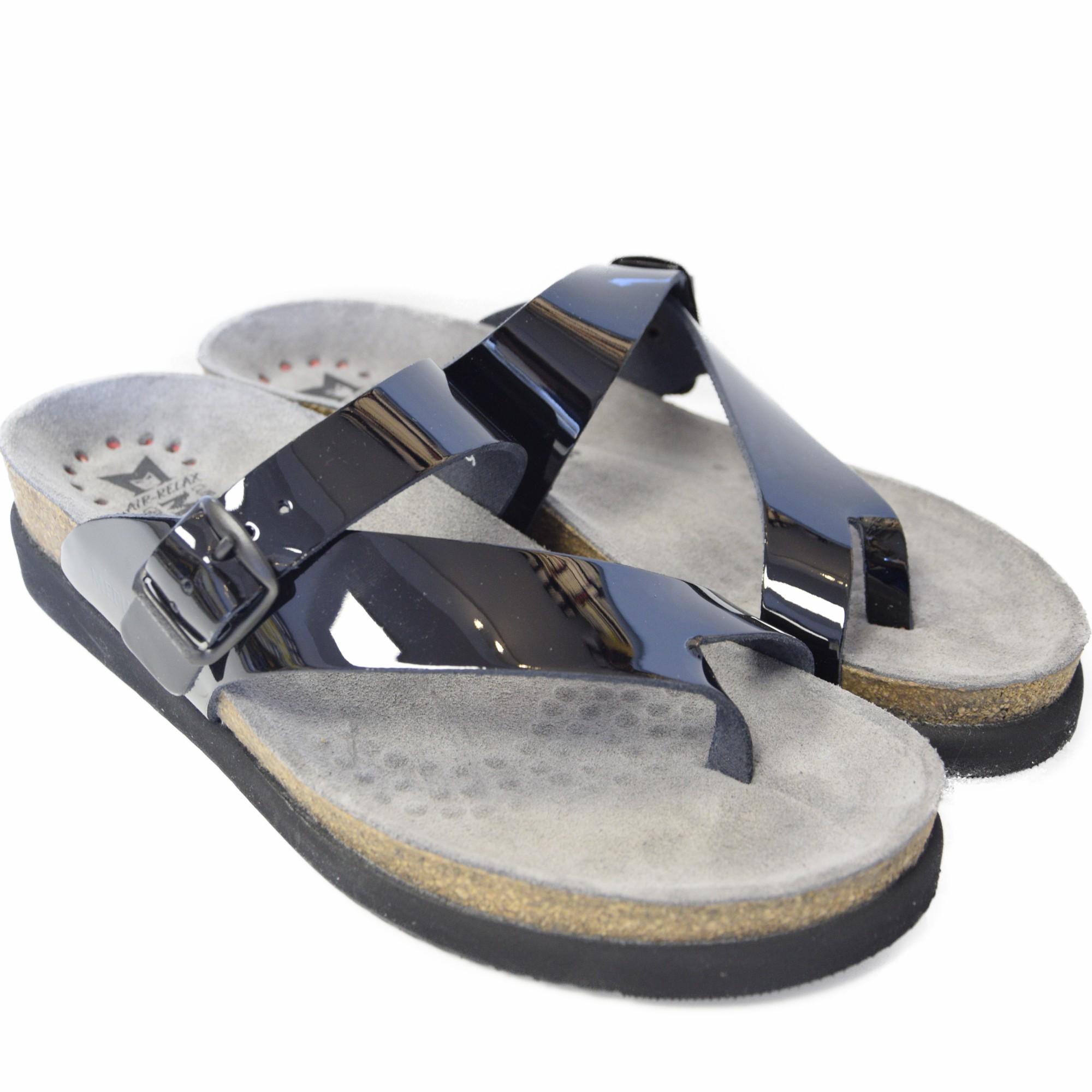 Mephisto Helen Womens Crossed Flip Flops Real Leather -2854