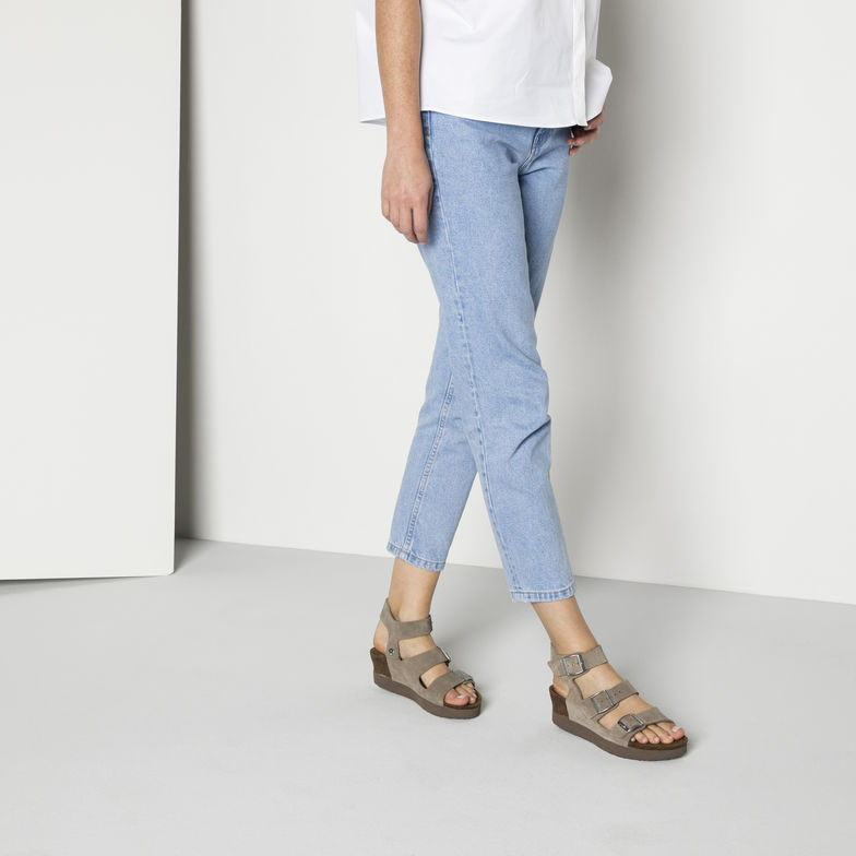 SANDALS SUEDE LEATHER TAUPE