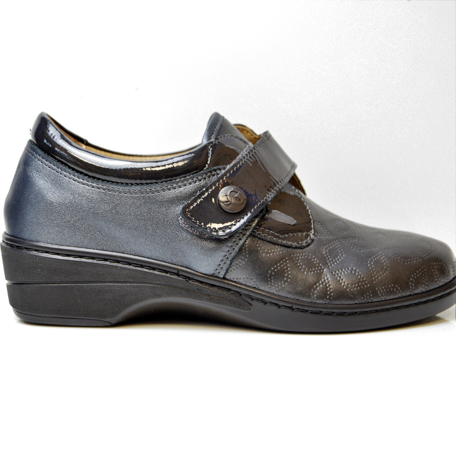 SANAGENS WOMEN'S SHOES REMOVABLE FOOTBED LEATHER BLACK