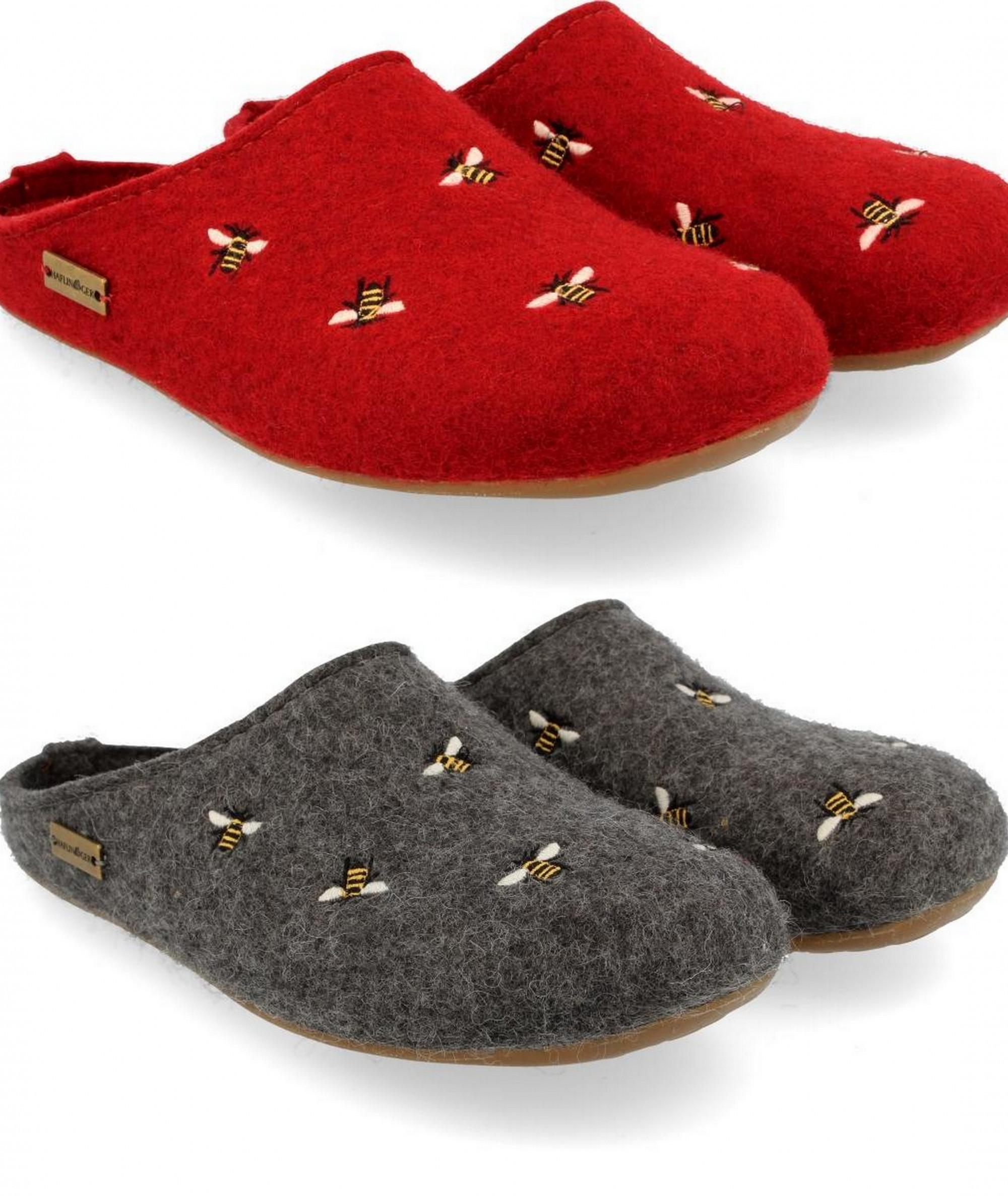 Pantofole HAFLINGER Soft 311010552 marrone in feltro lana