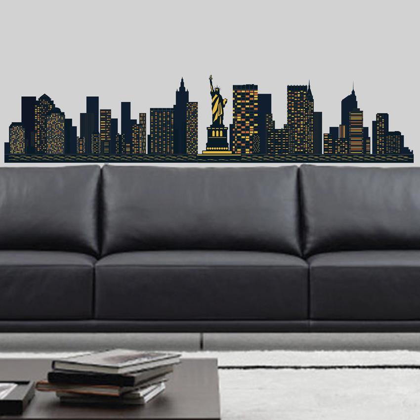 Adesivi Murali Skyline New York.New York Skyline Adesivi Da Parete E Decorazioni Di Imagicom
