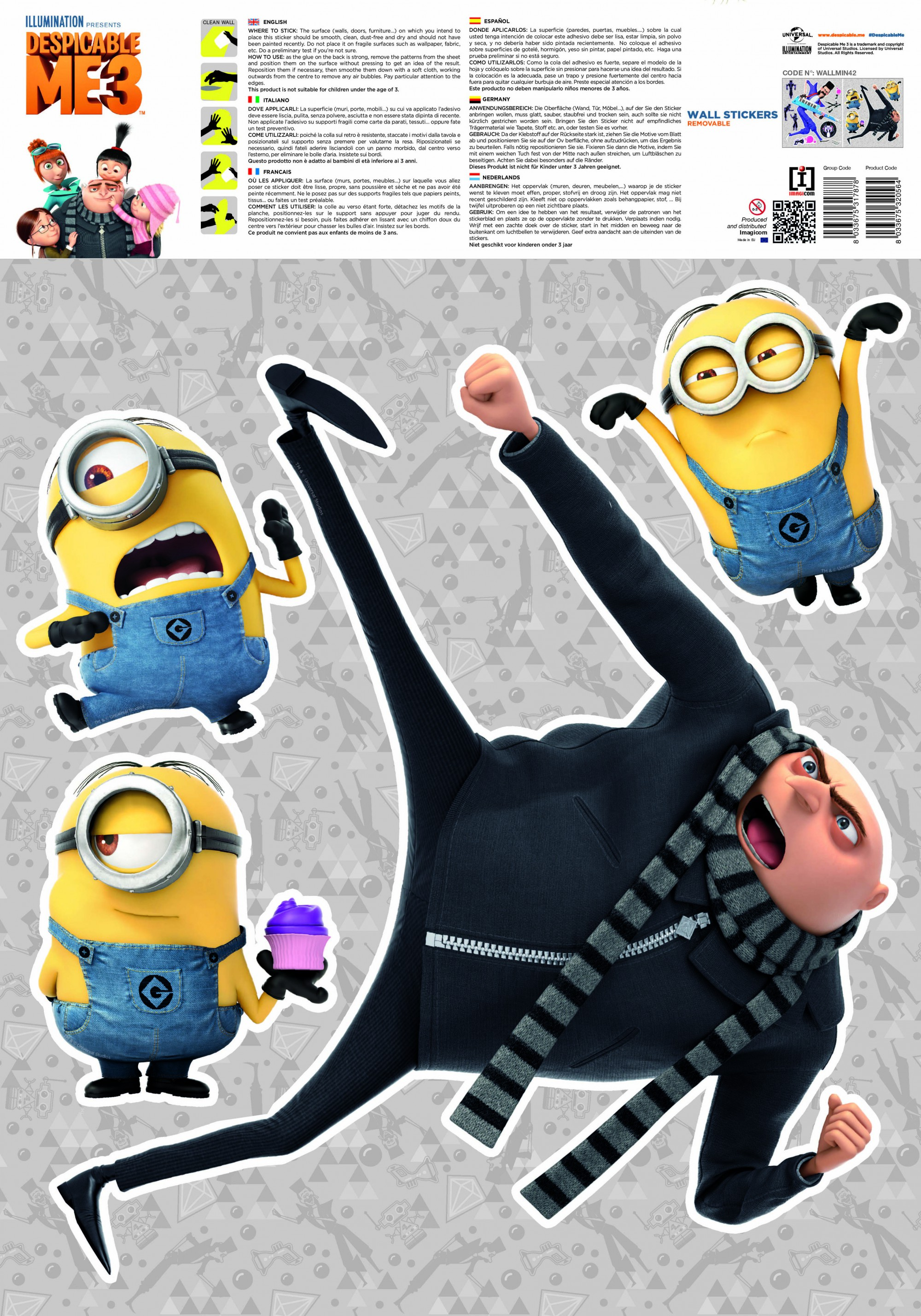 Despicable Me 3 Bratt Wall Stickers And Decorations By Imagicom  # Muebles Fiction