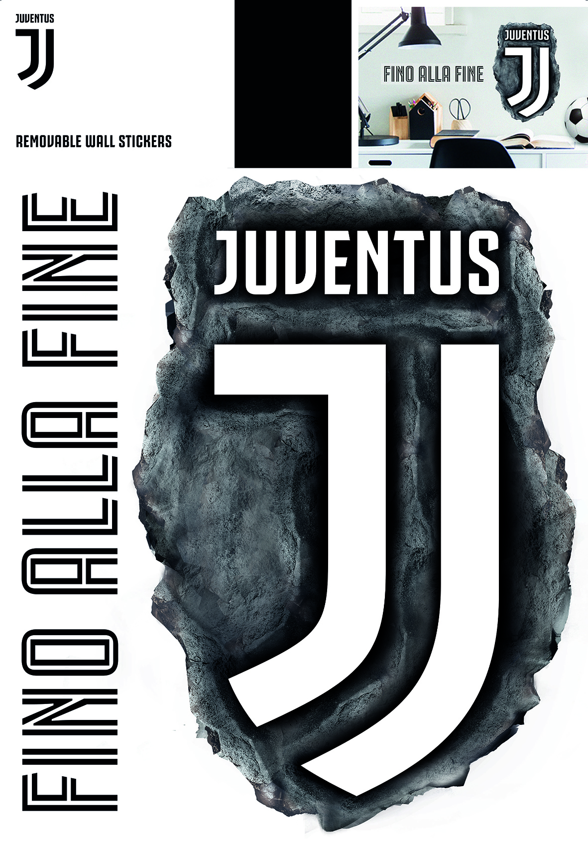Juventus maxi logo: wall stickers and decorations by ...