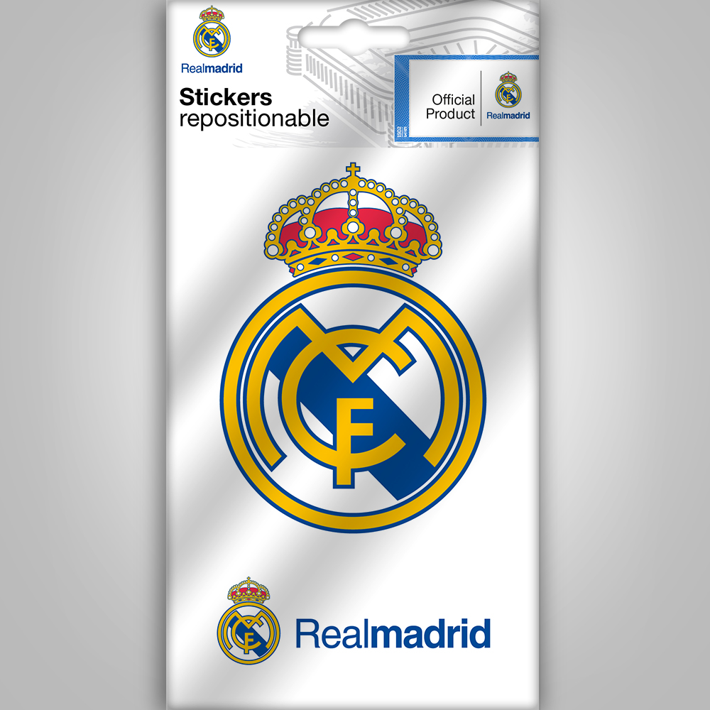 Real madrid mini sticker logo wall stickers and decorations by imagicom imagicom - Real madrid decorations ...