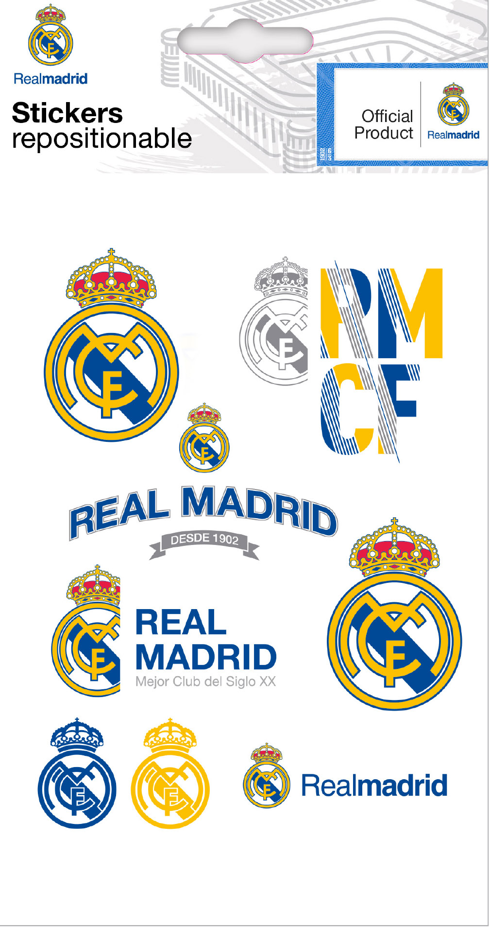 Real Madrid Mini Stickers Graphics Logo Wall Stickers And
