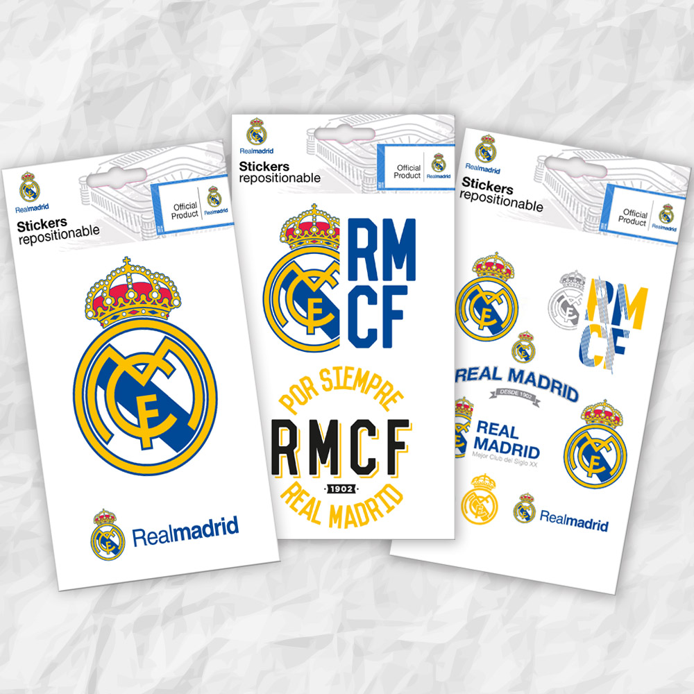 cfe84de3b Real Madrid three mini stickers  wall stickers and decorations by Imagicom