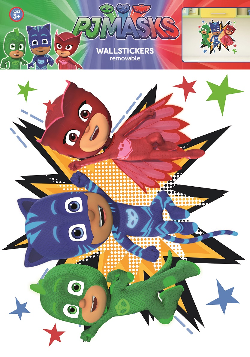 Pj Masks Characters Wall Stickers And Decorations By