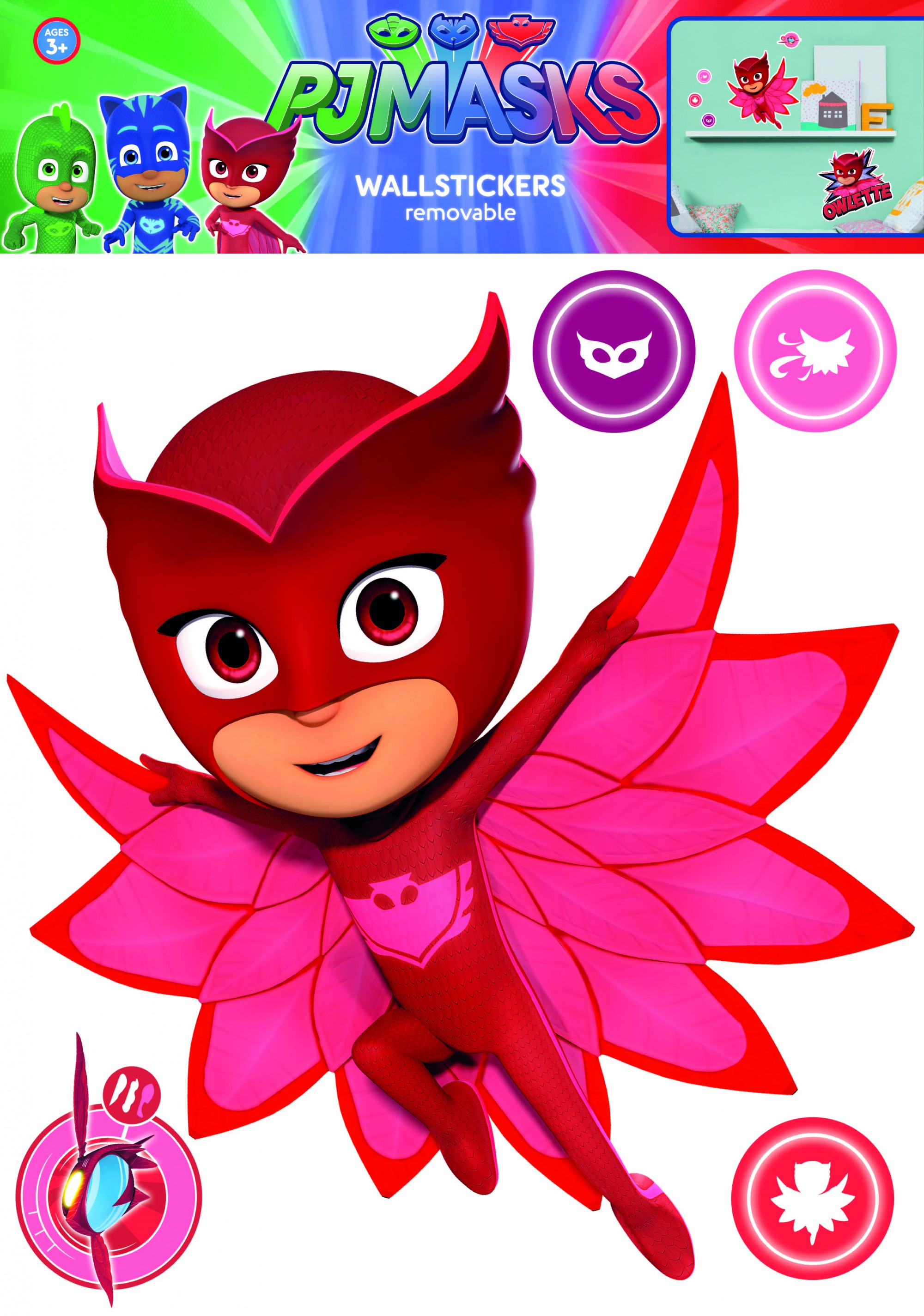 Wall Stickers Buy Pj Masks Owlette Wall Stickers And Decorations By