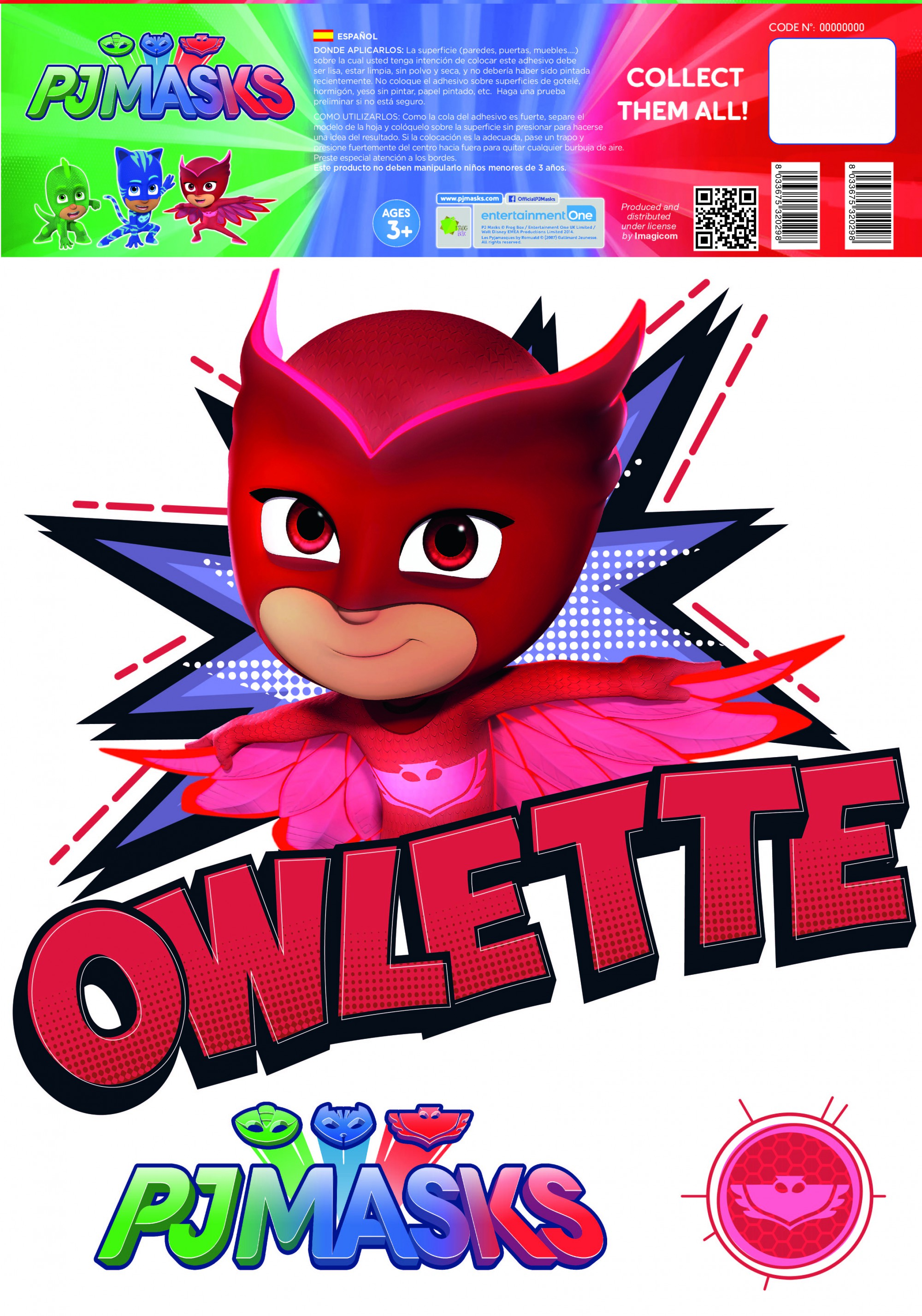 Pj Masks Owlette Wall Stickers And Decorations By Imagicom Imagicom # Muebles Novella
