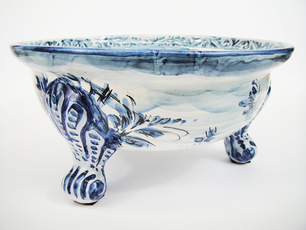 Ciotola tripode in ceramica di albisola firmata la maison de la