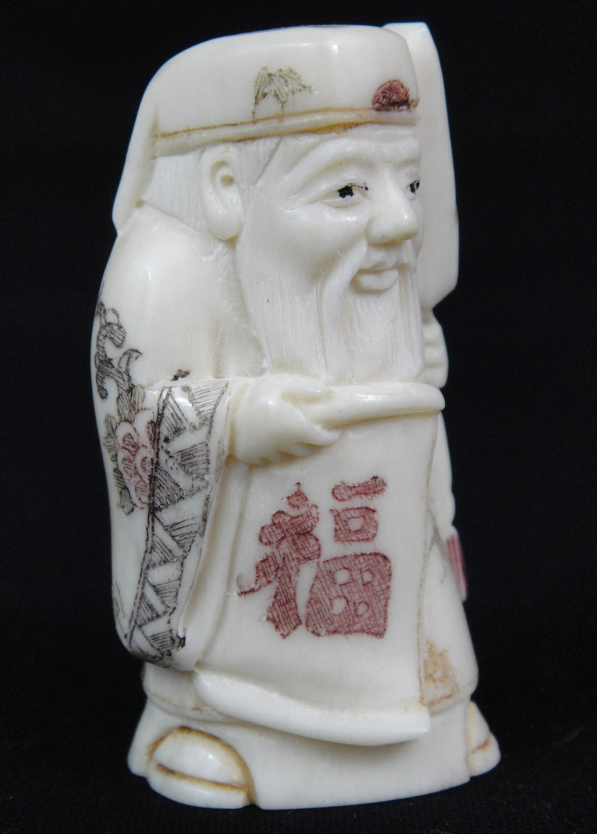 Netsuke Carved Bone Sculpture Wise Sage Man Figure Ref No 0022 La Maison De La Petite Sara