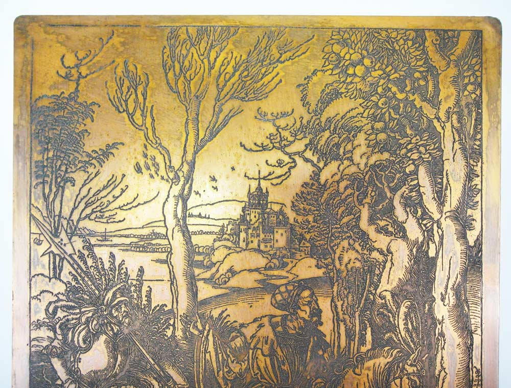 ALBRECHT DURER COPPER PRINTING PLATE ENGRAVING MATRIX REF NO 0167 ...