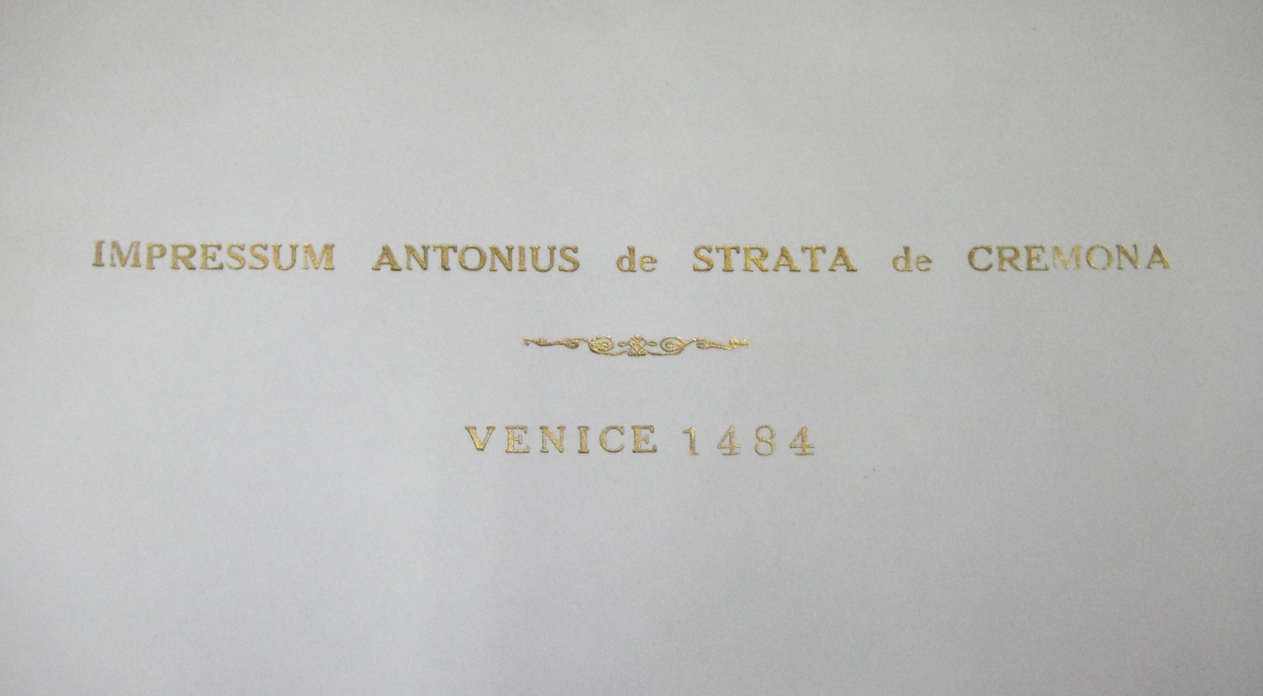 INCUNABULUM SUMMA THEOLOGIAE THEOLOGICA PARS PRIMA THOMAS AQUINAS 1484