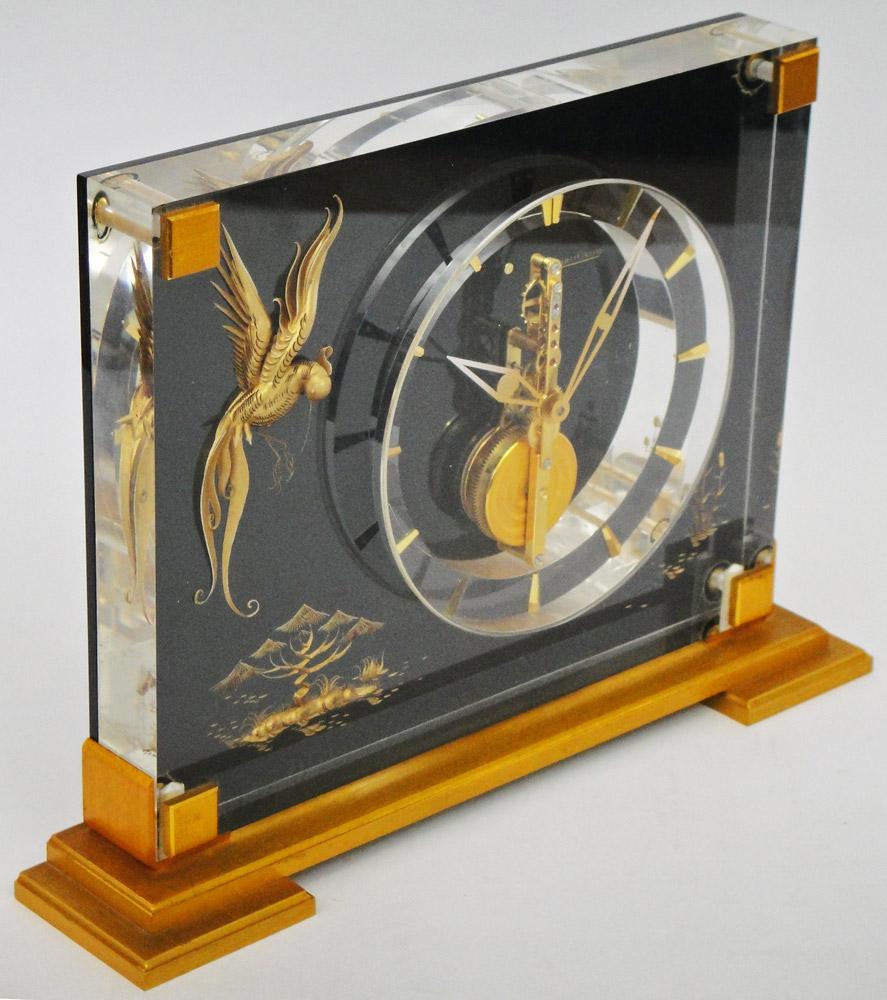 Superieur VINTAGE JAEGER LECOULTRE MARINA TABLE CLOCK MECHANICAL HAND WINDING MOVEMENT