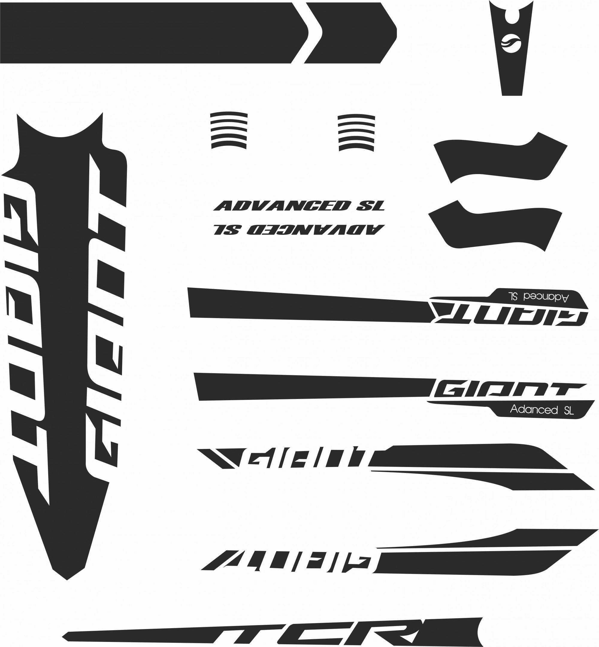 GIANT TCR Advanced SL 2016 Frame Sticker Decal Set